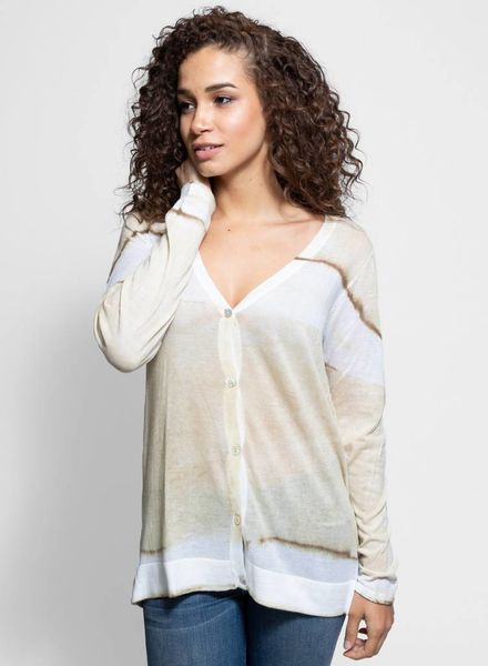 MA+CH Cotton Knit Long V Cardigan