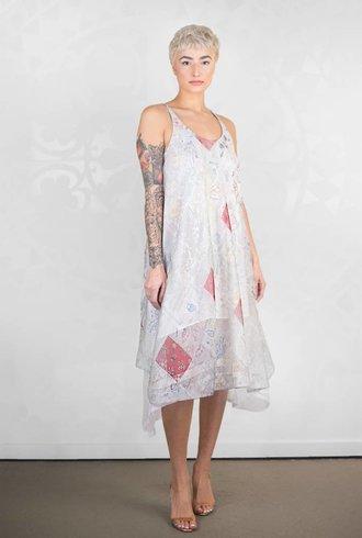 Gary Graham Printed Silk Tank Dress Kesa