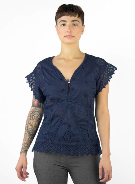 Local Jacki Shirt Navy