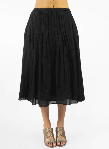 Pomandere Pleated Midi Skirt Black