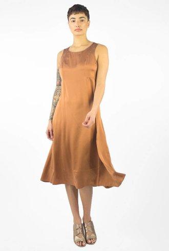 Pomandere Sleeveless Midi Dress Bronze
