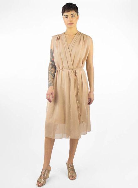 Pomandere Sleeveless Tie Dress Blush