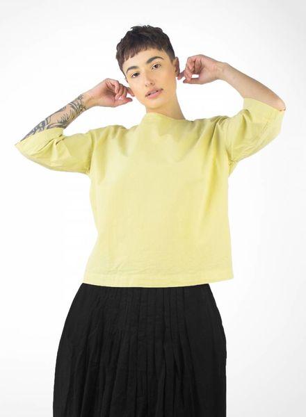 Pomandere Boxy Short Sleeve Shirt Mustard