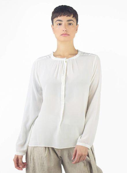 Pomandere Crew Neck Button Down Shirt Cream