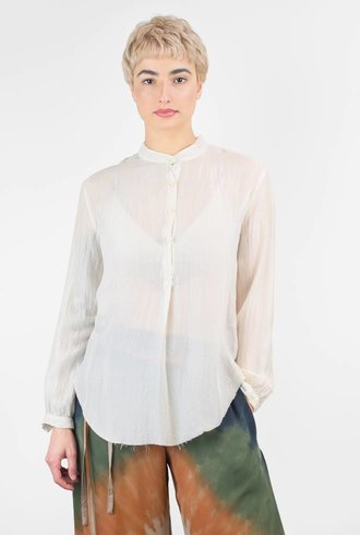 Raquel Allegra Silk Henley Light Beige