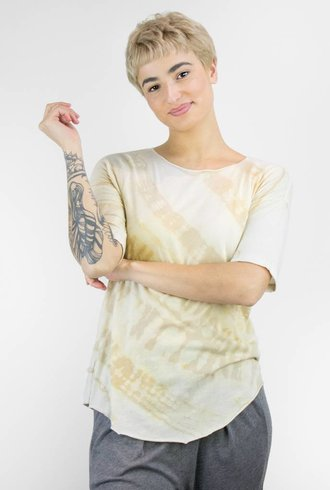 Raquel Allegra Basic Tee Desert Tie Dye
