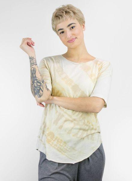 Raquel Allegra Tie Dye No Shred Jersey Basic Tee Desert