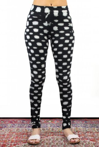 Raquel Allegra Legging Black Checker Tie Dye