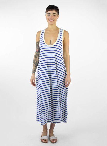 The Great The Swing Stripe Tank Dress Blue & Cream