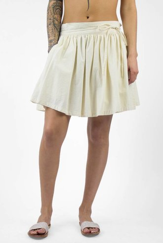 The Great The Twirl Skirt Natural Chambray