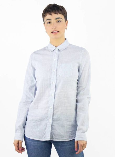 Trovata Grace Classic Shirt Light Blue Stripe