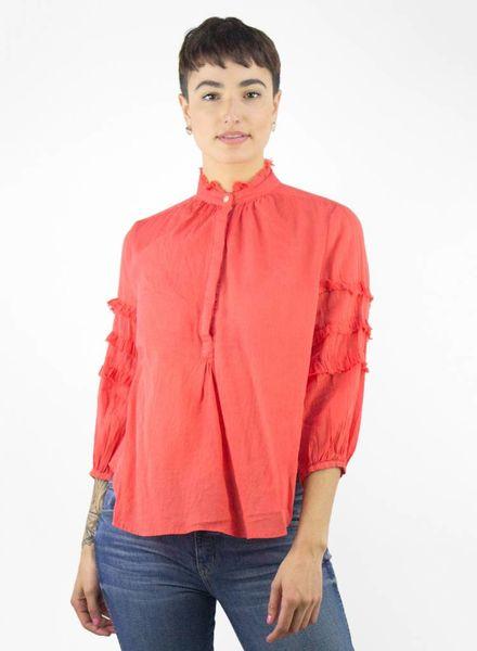 Trovata Anna Ruffle Sleeve Shirt Poppy