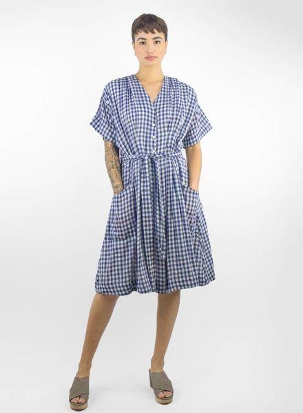 c849583ee64 Sophie V-neck Shirtdress Navy   White