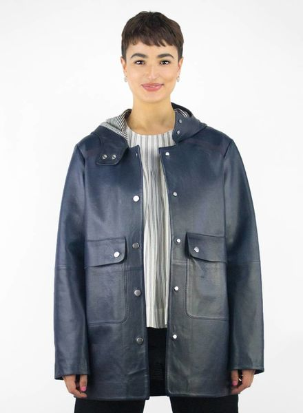 Whitcomb Tulsk Leather Rain Coat