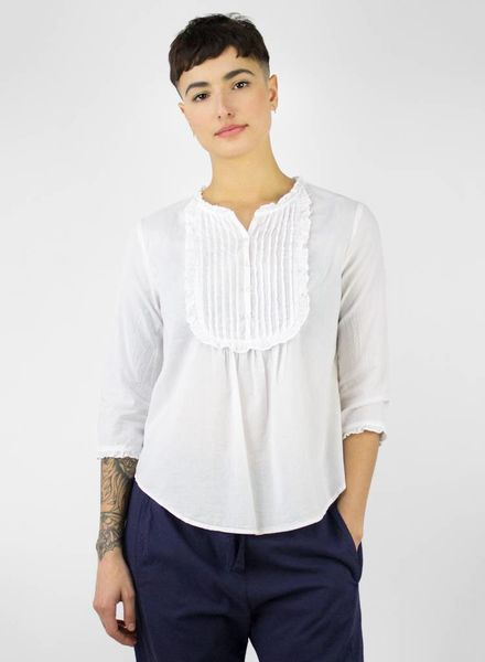 Xirena Vonn Cotton Poplin Top White