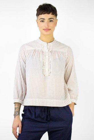 Xirena Frankie Cotton Stripe Shirt Opal