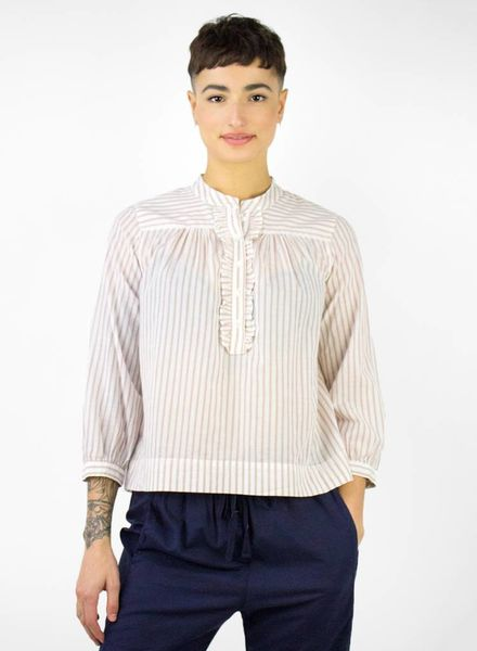 Xirena Frankie Cotton Stripe Shirt Opal