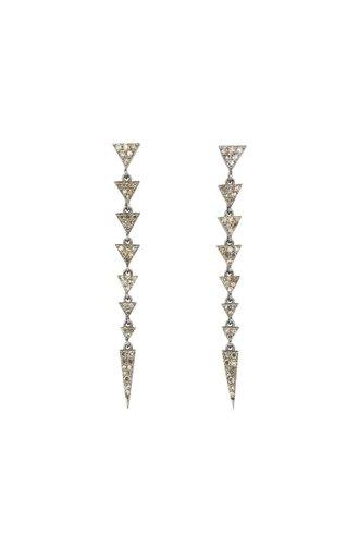 Dana Kellin Fine Diamond Silver Drop Earrings