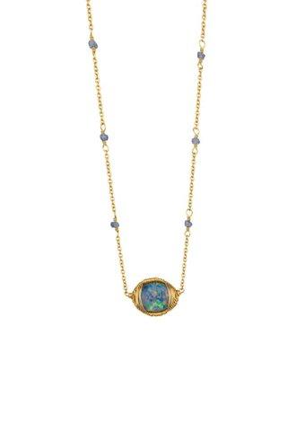 Dana Kellin Fine Opal Blue Sapphire 14K Necklace