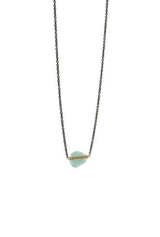 Dana Kellin Fine Teal Diamond 14K Necklace