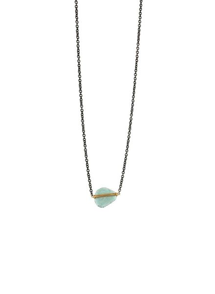 Dana Kellin Fine Teal Diamond 14K Necklace