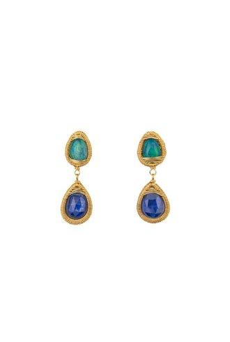 Dana Kellin Fine Opal Kyanite 14K Earring