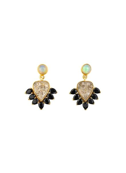 Shana Gulati Carmes Earrings Sand Black