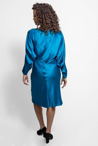 Nicole Miller Charmeuse Dress Aqua
