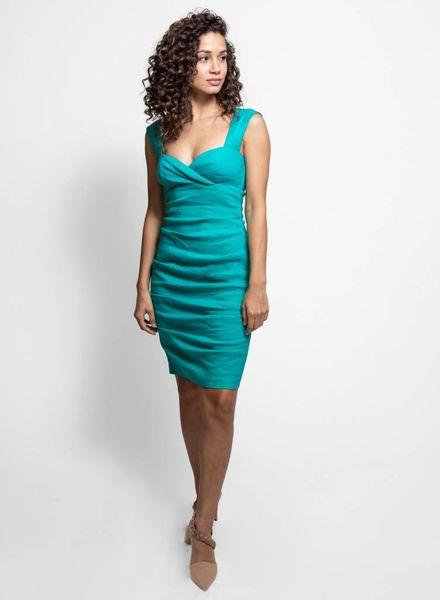 Nicole Miller Linen Dress Lagoon