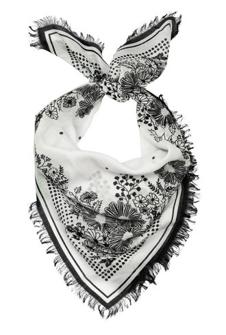 Destin Flower Bandana Off-white