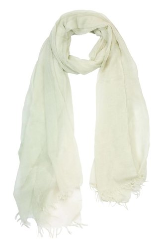 Inhabit Tissue Woven Scarf Chalk