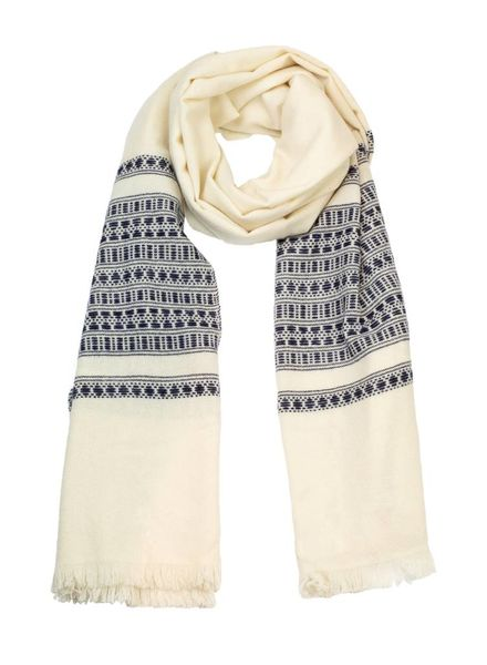 Local San Pedro Pashmina Scarf Grey Natural