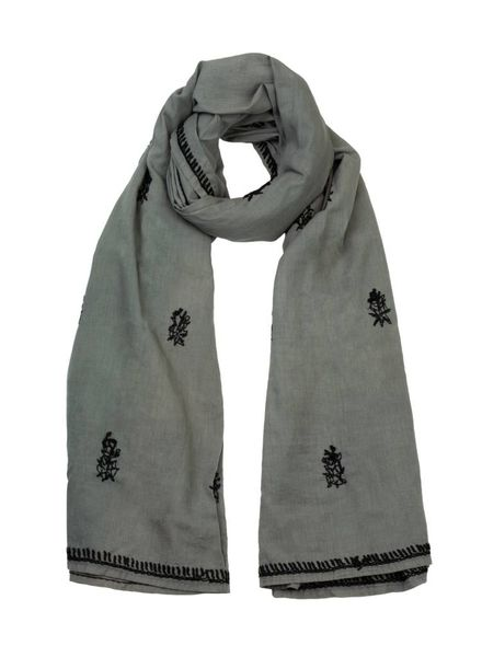 Local Alcea Scarf Steel Grey