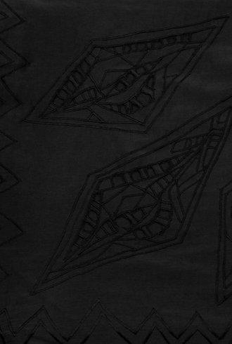 Pomandere Corner Detail Scarf Black