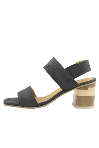 Coclico Bask Quarter Strap Sandal Ombra Black