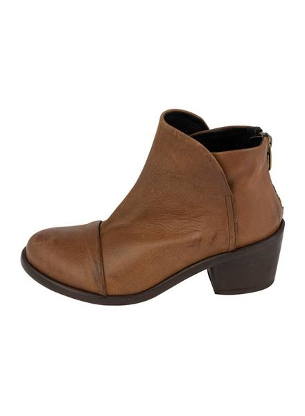 P. Monjo Tulip Ankle Boot Cuoio