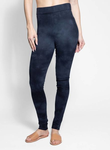 Raquel Allegra Leggings Vintage Black Tie Dye