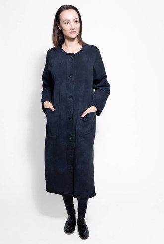 Raquel Allegra Duffle Coat Vintage Black Tie Dye