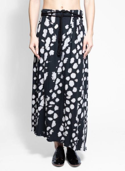 Raquel Allegra Drawcord Skirt Black Tie Dye