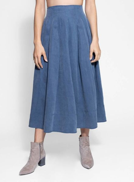 Ulla Johnson Sibley Skirt Chambray