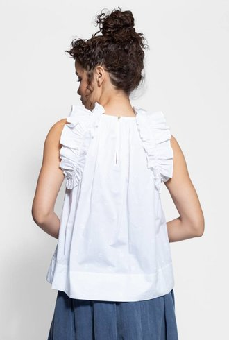Ulla Johnson Tilda Top Blanc