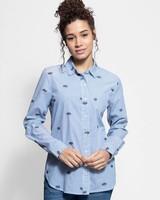 Trovata Grace Classic Shirt Blue Stripe
