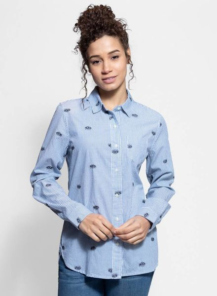 Trovata Grace Classic Shirt Blue Stripe