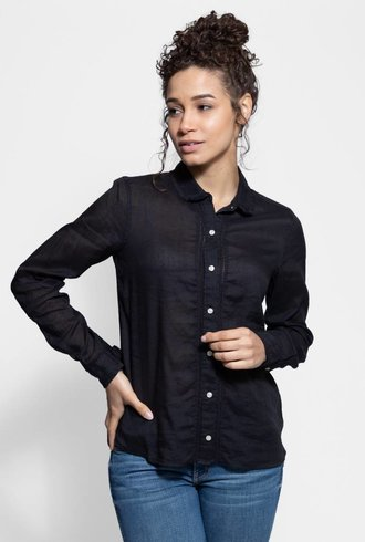 Trovata Sadie Placket Blouse Black