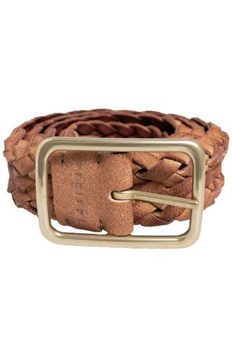 Orciani Masculine Suede Belt Cuoio