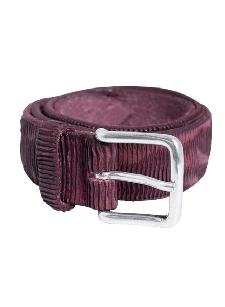 Orciani Patchwork Blade Belt Bordeaux
