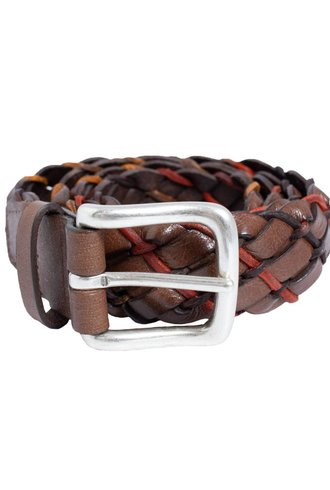 Orciani Coil Braided Belt Taupe