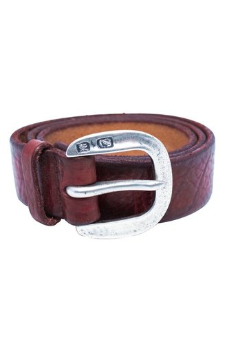 Orciani Thin British Belt Bordeaux