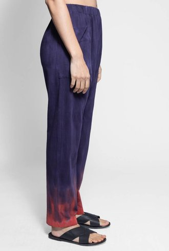 Raquel Allegra Relaxed Pant Nightshade Tie Dye