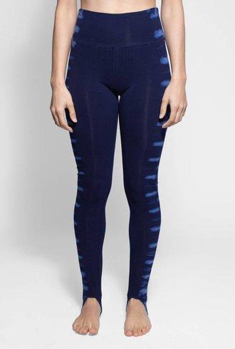 Raquel Allegra Stirrup Legging Blue Water Tie Dye